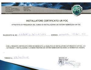 Installatore certificato UR FOG